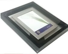Bilderrahmen schwarz grau 10 x 15 Plexi-Glas PVC neu modern
