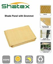 Shatex 12x16ft 90% Square Sun Shade Sai Shelter PatioTaped Edge W/ Gromme Wheat