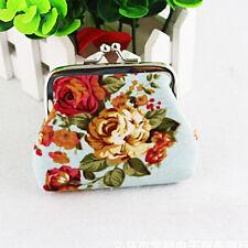 Women Casual Clutch Leather Portable Purse Bag Small Mini Floral Wallet Handbag