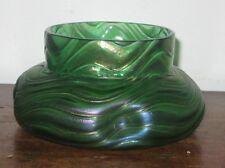 AUSTRIAN BOHEMIA IRIDESCENT GLASS VASE / BOWL ART NOUVEAU DESIGN