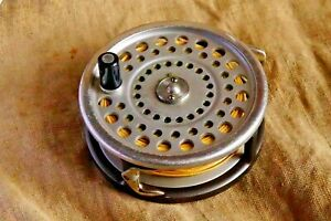 Vintage Hardy Marquis No.1 Salmon Sea Trout fly fishing reel & makers case