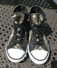 CONVERSE!! Boys sz 1y 1 youth Camouflage Army print skater High Top shoes EUC!!