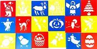 18 Stencils Templates Festive Christmas Halloween And Easter For Kids Craft Kit