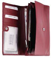 Damen-Geldbörse 18 x 10 cm Rot Leder Portemonnaie D-495069550011695
