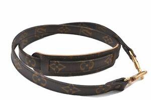 """Authentic Louis Vuitton Monogram Brown Shoulder Strap 39.4"""" LV E1103"""