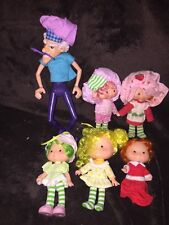 Vintage STRAWBERRY SHORTCAKE Figure Lot PURPLE PIEMAN & More Good Shape