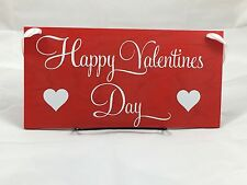 Happy Valentine's Day Sign With Hearts. Front Door Sign or Perfect to Hang