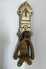 ANTIQUE CAST BRASS WT&S DROP HANDLE CABINET DOOR HANDLE  HARDWARE