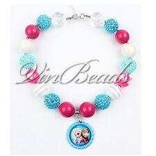 Acrylic Chunky Beads Bubblegum Gumball Jewlery Pendant Christmas Girls Necklace1