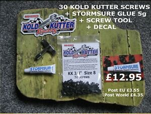 30 Kold Kutter Wader Boot Screws + Stormsure Adhesive + Screw Tool - only £12.95
