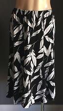 ANDRE JOHN  Black & White A-Line Knee Length Skirt Size S -  As New