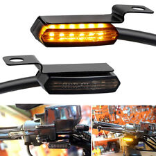 Motorcycle Sequential Led Turn Signals Flowing Mini Handlebar Light For Harley