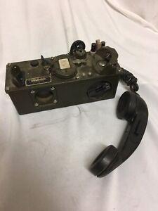 Vintage Vietnam Era Army Field Telephone Radio TA-312/PT W/Handset