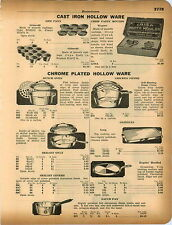 1934 ADVERTISEMENT Griswold Gem Pan Chrome Plated Pans Pots Skillet Dutch Oven