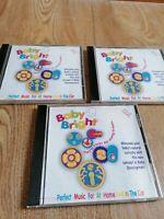 BABY BRIGHT MUSIC STIMULATION SOUND CDx3 DREAMY LULLABIES, FARMYARD & PLAYTIME