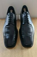 LLOYD 'Panama' Black Leather Lace-Ups - Mens Size 12 UK, Width F