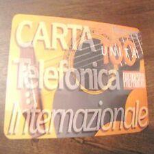 Pubblicità Carta Telefonica Internazionale Telecom 100