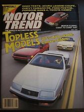 Motor Trend Magazine May 1987 Topless Models Merkur Scorpio (X) Z