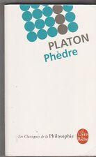 Phèdre - Platon - ( Laetitia Mouze - D.Rabut ). TB état. poche .23/9