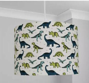 New kids room dinosaur green print lamp shade pendant shade in multi sizes