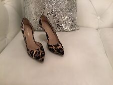 Ladies Paper Dolls Leopard Print Fabric Shoes - Size 5