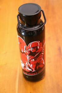NWT Star Wars The First Order Stainless Steel Water Bottle Black Red Handle