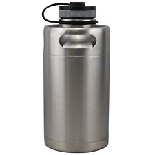 Vacuum Insulated 64oz Stainless Steel Mini Keg Growler Canteen Water Bottle