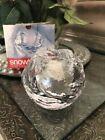 Kosta Boda Sweden Crystal Ice Snowball Tealight & Votive Candle Holder NIB