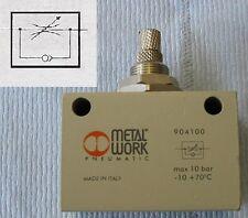 Válvula de aguja de control de flujo Uni Direccional 3/8 BSPP Aire Neumático