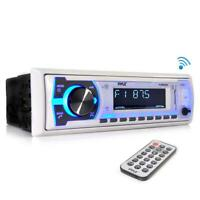 pyle PLMRB29W Pyle Marine Bluetooth Stereo Radio Music Streaming, White