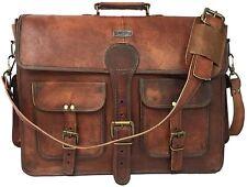 New Genuine Real Leather Attache Handbag Shoulder Satchel Laptop Messenger Bag