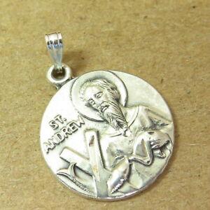 VTG St Andrew JC Sterling Silver Medal Patron of Scotland & Russia Fishermen 4.2