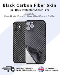 iPhone 12 /Mini/Pro/Max Black Carbon Fiber Full Back Skin Sticker Vinyl Wrap