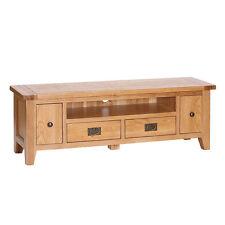 Be Modern | Solid Natural Oak Large Slim TV Unit