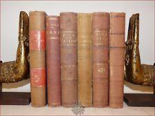 Emile ZOLA, Collezione 6 opere Ottocentesche Oeuvres Nana Paris  ROUGON MACQUART