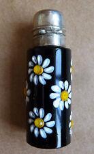 Flacon à parfum en verre et émail STEP FRANCE ancien scent bottle margueritte