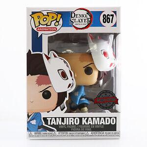 IN HAND! Funko POP! Demon Slayer - Tanjiro Kamado With Mask Exclusive MINT