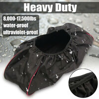 Winch Dust Cover 600D Waterproof Soft 8,000-17,500 lbs Trailer ATV SUV  W