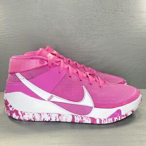 Nike KD13 Kay Yow (Unreleased) Pinkfire White DJ3597-600 Men's Size 13