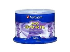 100PK Verbatim DVD+R DL Dual Double Layer 8.5GB 8X Logo Disc 97000 with Cake Box