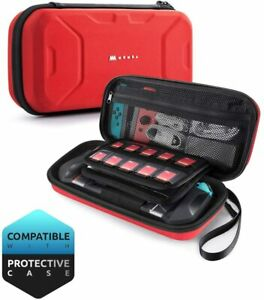 For Nintendo Switch, Mumba Plus Capacity Travel Carrying Case Hard Pouch Bag MAX