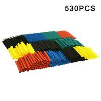 530Pcs Heat Shrink Tubing Insulation Shrinkable Tube Sleeve Wire Applied M5Y0