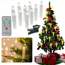 10X LED Weihnachtskerzen Lichterkette Kabellose Kerzen Deko Warm Fernbedienung