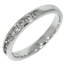 Certified 18k White Gold Diamond Wedding Band Channel set Half Eternity Ring