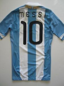 Adidas Argentina Techfit Player Issue Home Soccer Jersey Football Lionel Messi