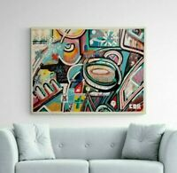 CORBELLIC ART Modern ABSTRACT CANVAS WALL ART, LARGE, MUSEUM Signed, US