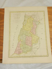 1808 Antique COLOR Map//ATLAS CLASSICA//CANAAN, LAND OF PROMISE TO ABRAHAM
