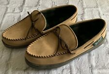 Woolrich Men's Tan Lined Moccasin Rubber Sole 12 Excellent Condition Barely Worn