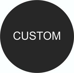 4x Custom Alloy Wheel Centre Cap Stickers Vinyl Fits Many Cars 45-90mm