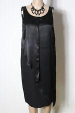 sisley Kleid Gr. 38 schwarz ärmellos Satin Etui Kleid/Party Kleid/Abendkleid